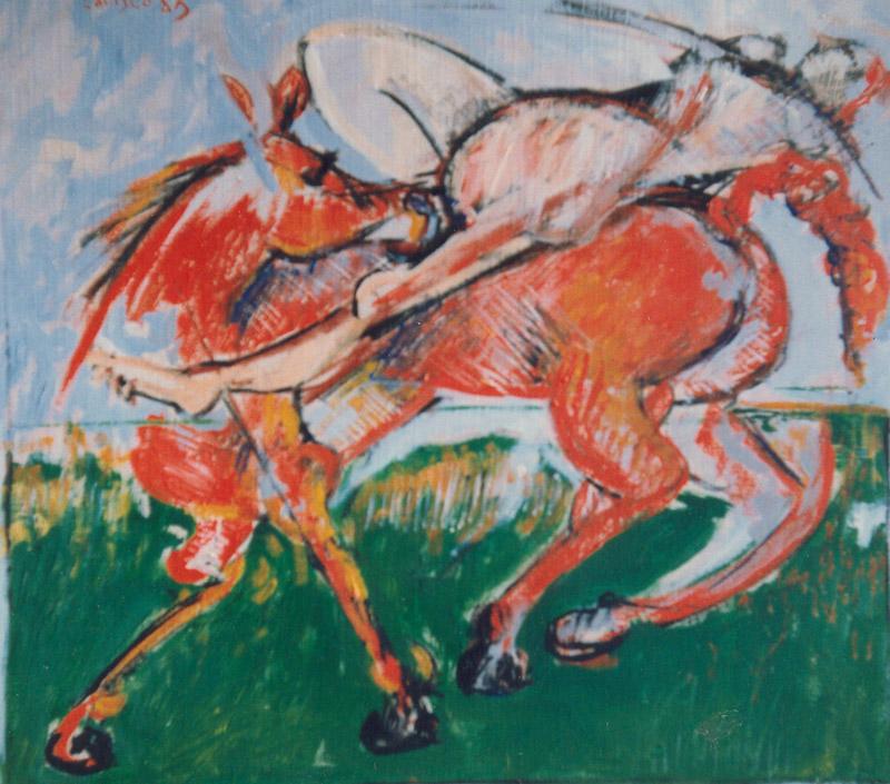Felice Lovisco, senza titolo, olio su tela, 1983