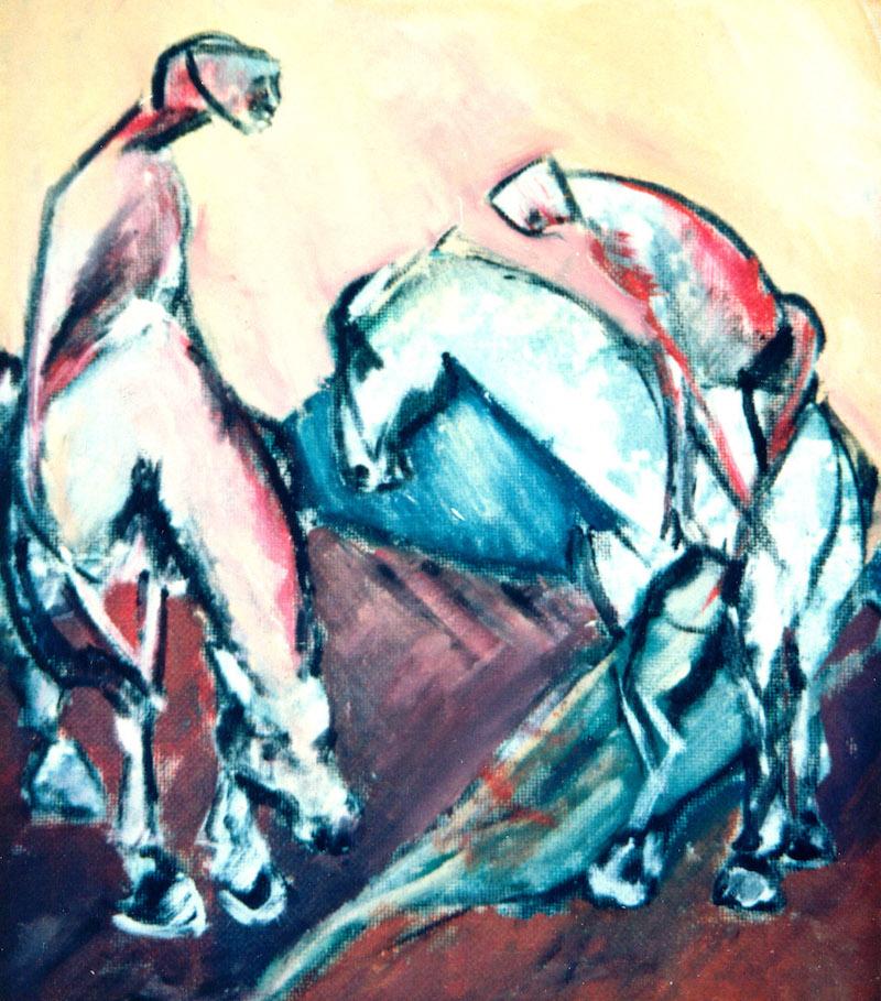 Felice Lovisco, senza titolo, olio su tela