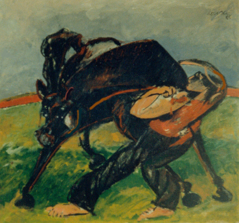 Felice Lovisco_cavallo_dipinto