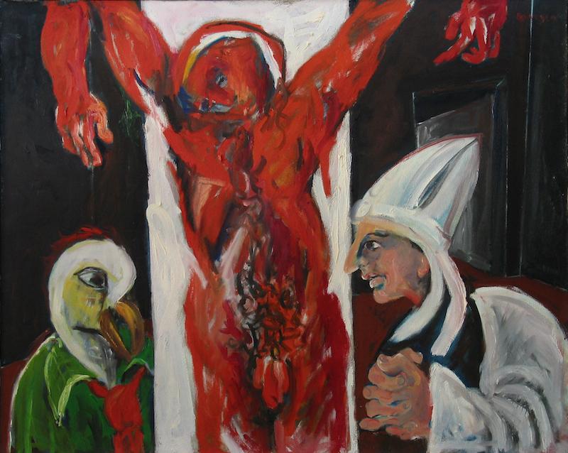 Felice Lovisco, Compromesso, olio su tela, 1977