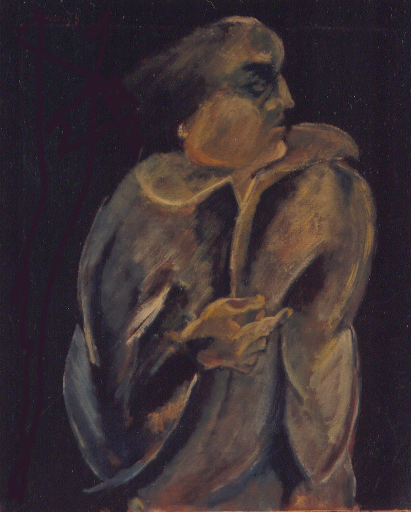Felice Lovisco, senza titolo, olio su tela, 1979