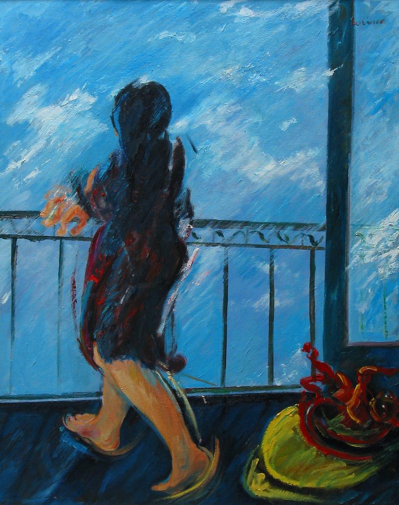 Felice_Lovisco_figura-al-balcone_dipinto
