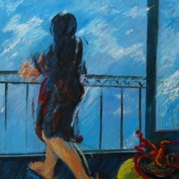 Felice Lovisco, Figura al balcone