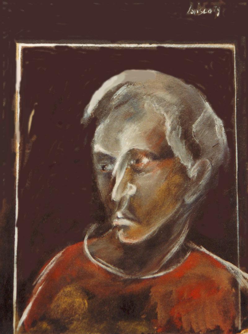 Felice Lovisco, senza titolo, olio su tavola, 1979
