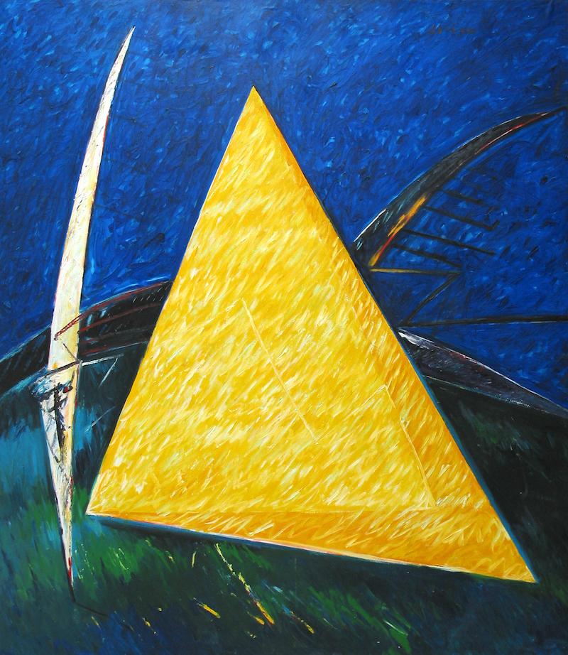 Felice Lovisco, PIramide, olio su tela