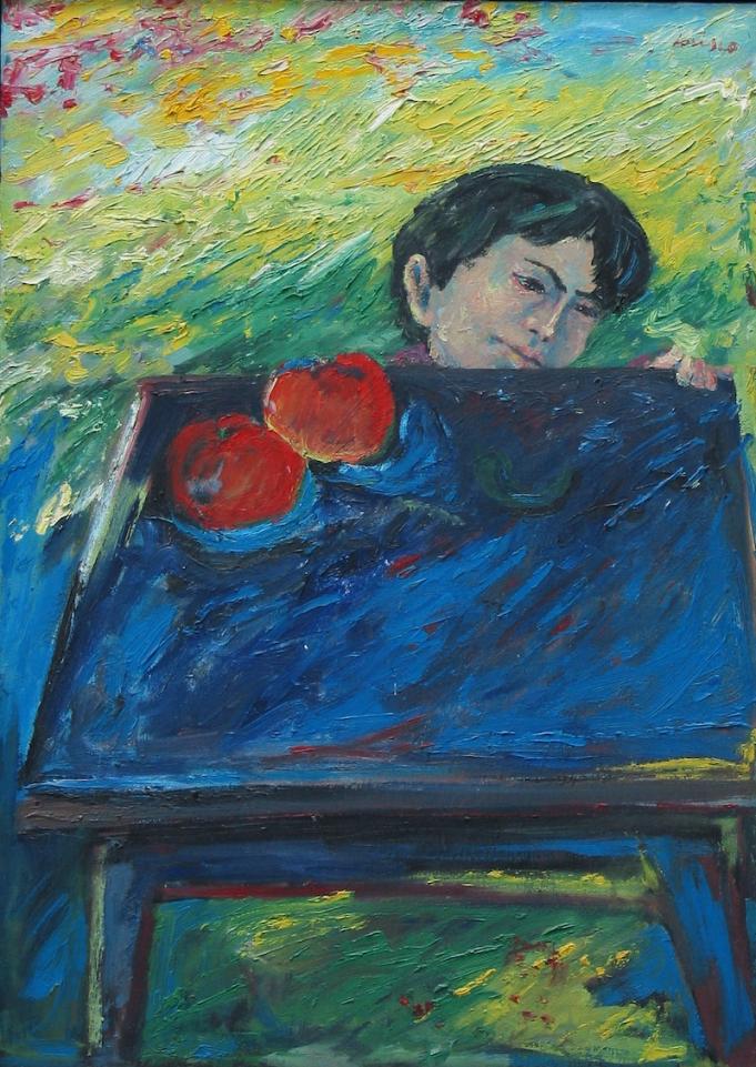 Felice Lovisco, Bambino, olio su tela