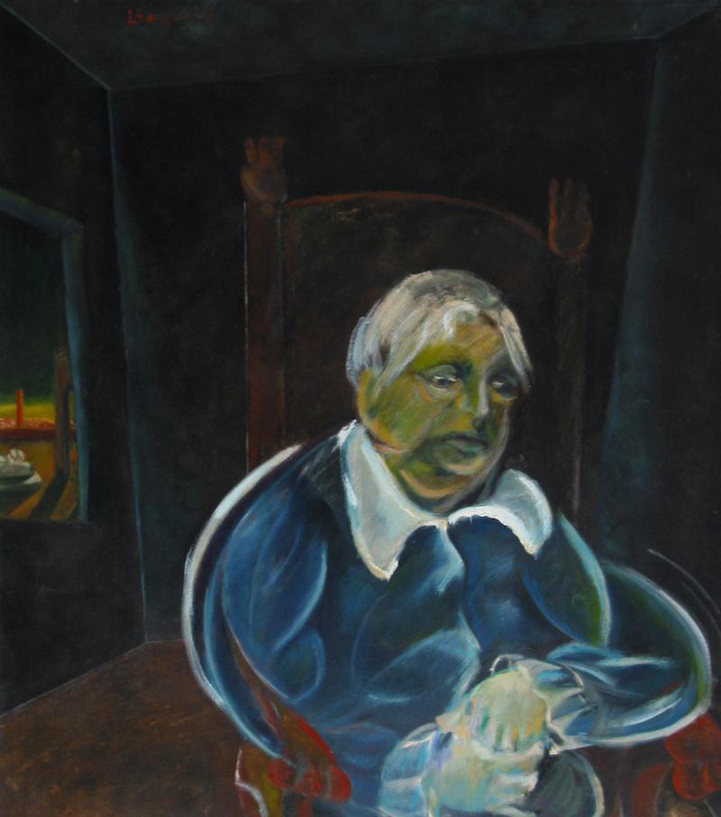 Felice Lovisco, senza titolo, 1985, olio su tela