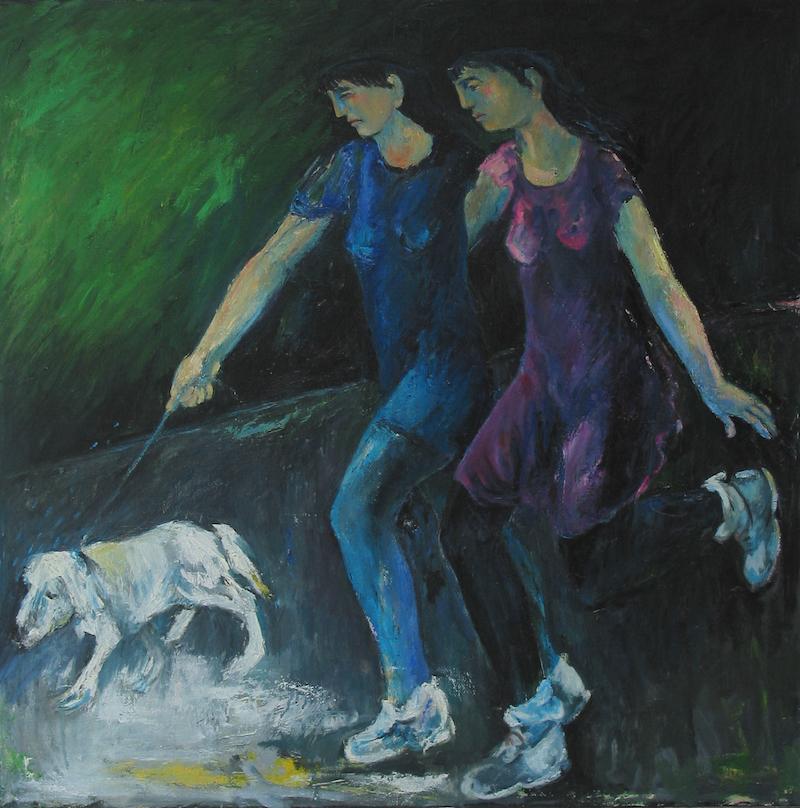 Felice_Lovisco_figure-con-cane