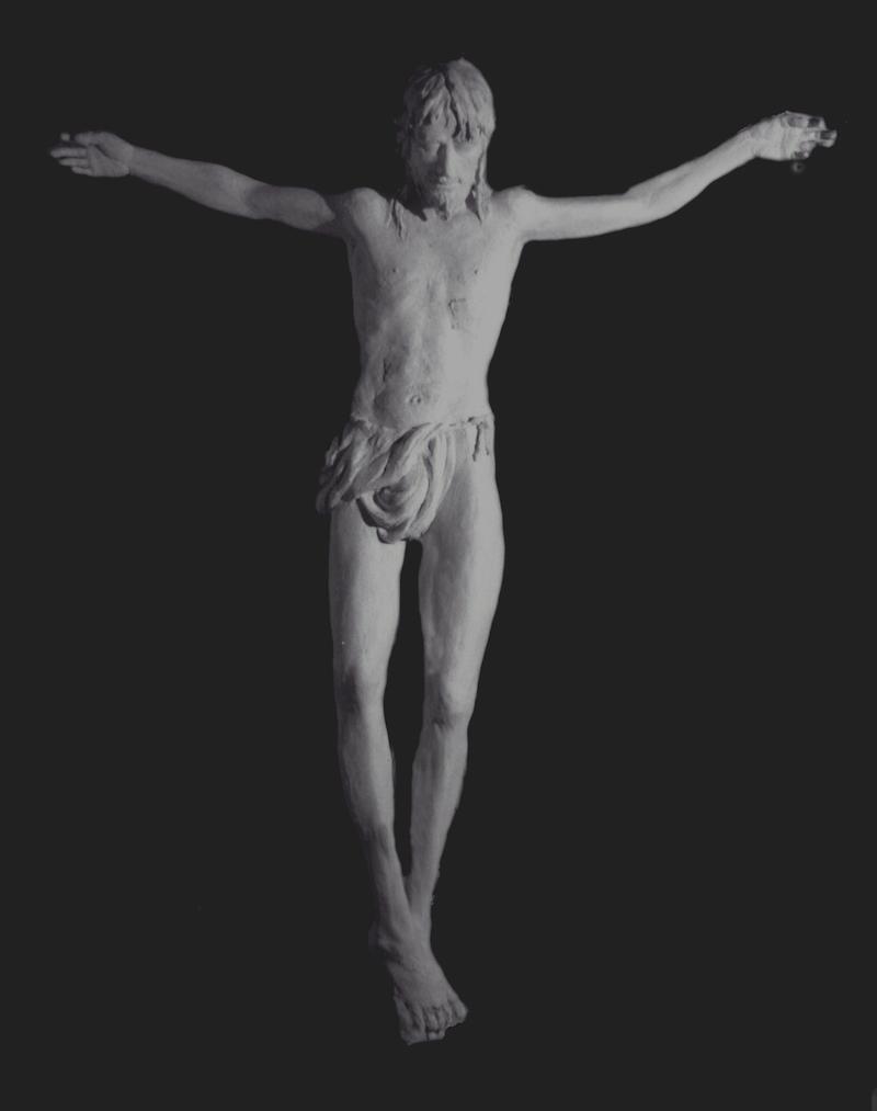 Felice Lovisco, calco in gesso del Crocifisso realizzato per il Seminario Maggiore di Potenza