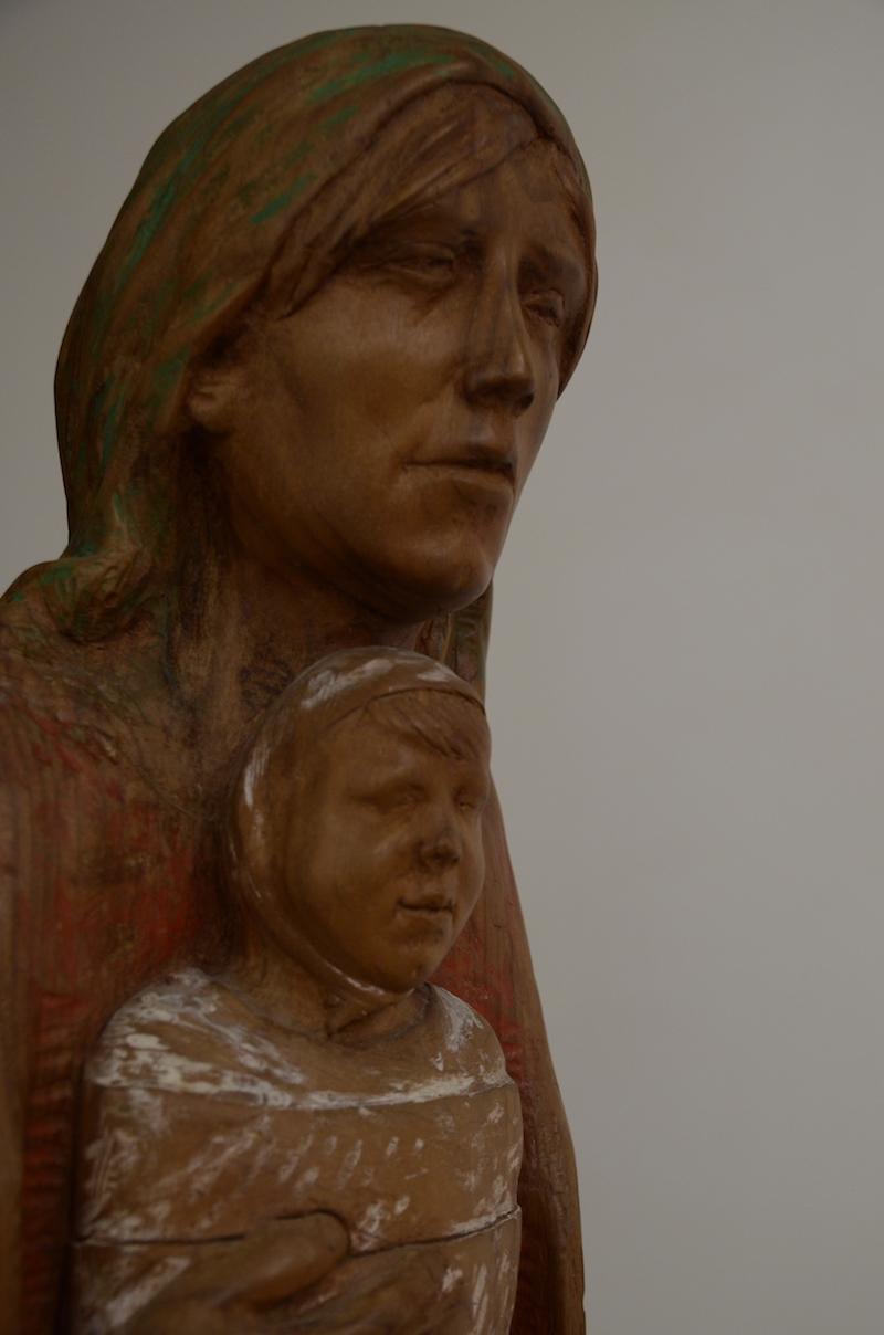 Felice Lovisco, Maternità lignea,, 1994