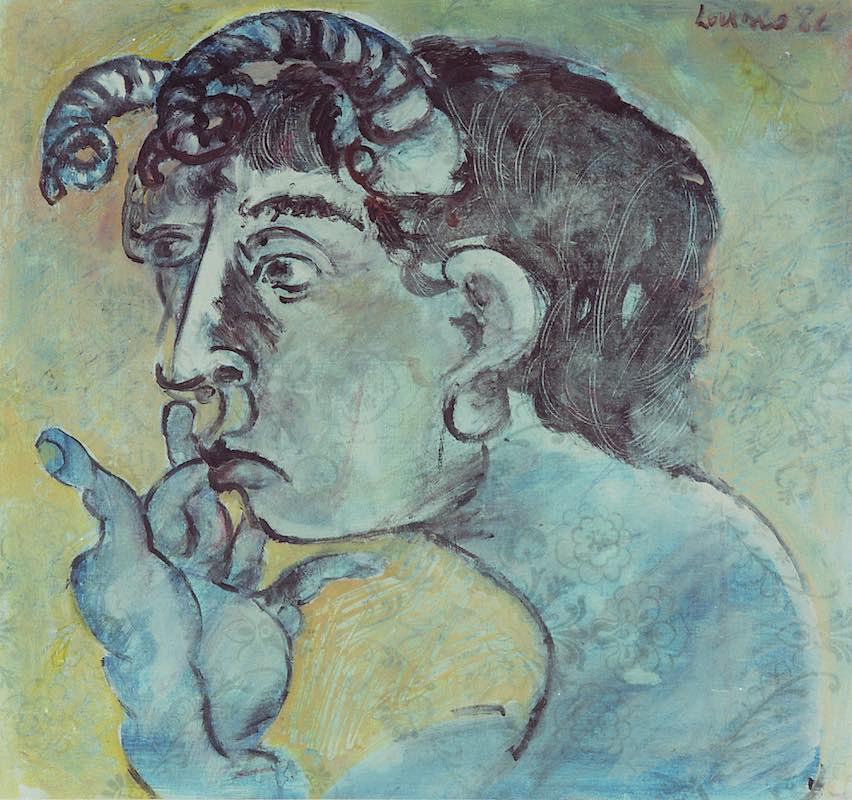 Felice_Lovisco_Ritratto-del-grassiere_1982_tecnica-mista-su-carta_43x47